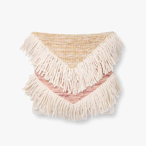 V Fringe Pillow