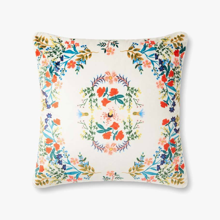 Ivory Antique Floral Pillow