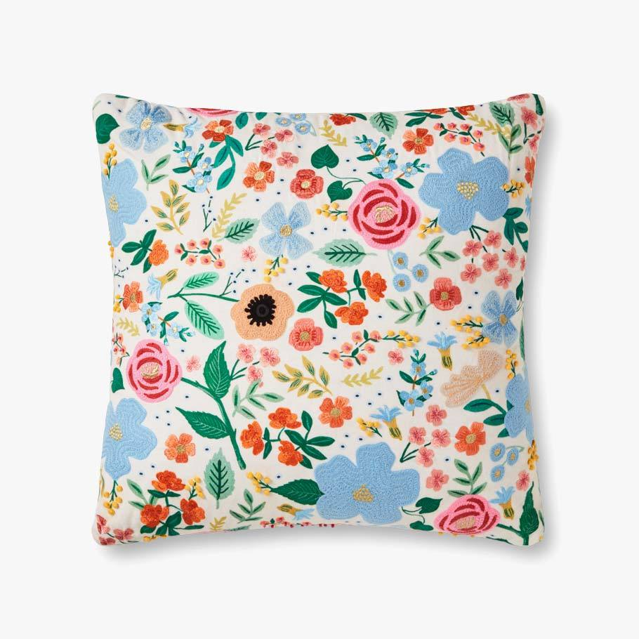 White Floral Party Pillow