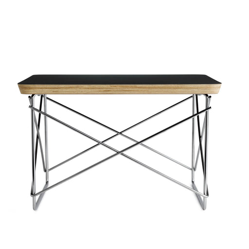 Eames Wire Base Low Table | Black+ Chrome Leg