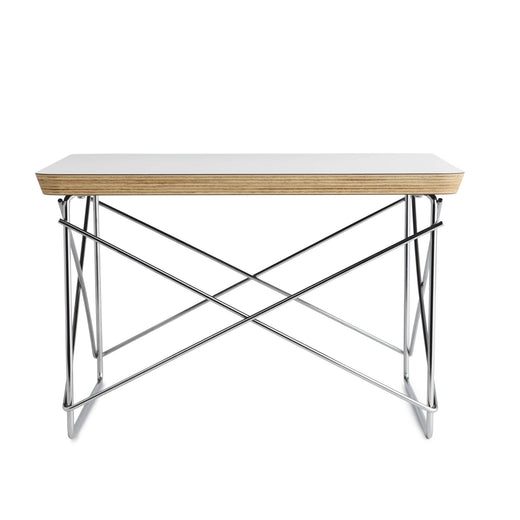 Eames Wire Base Low Table | Studio White + Chrome Leg