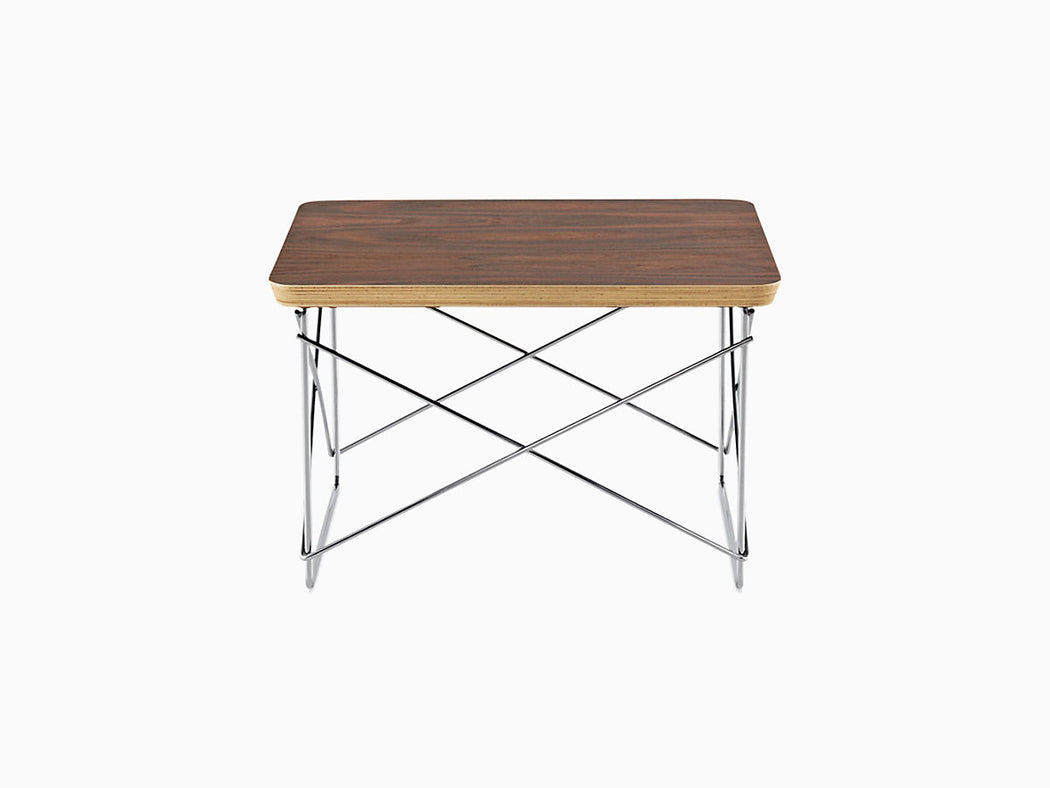 Eames Wire Base Low Table | Walnut Top | Freeship