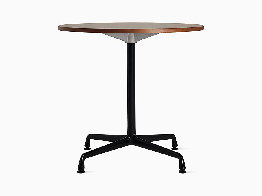 "Eames Universal 30"" Round Table Walnut Top 