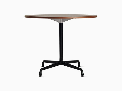 "Eames Universal 36"" Round Table Walnut Top 