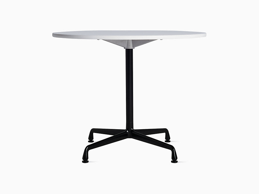 "Eames Universal 36"" Round Table White Top 