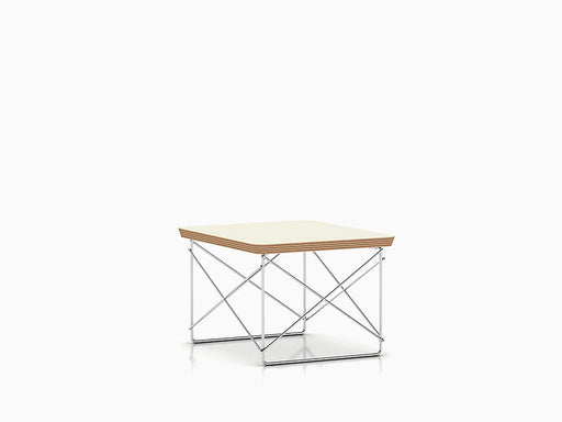 Eames Wire Base Low Table | White + Chrome Leg