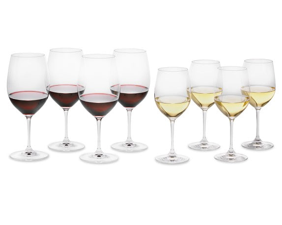 Riedel Vinum Red & White Wineglass Set (Set of 8)