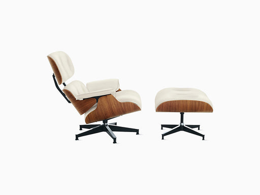 Eames Lounge Chair with Ottoman Walnut Frame | Freeship