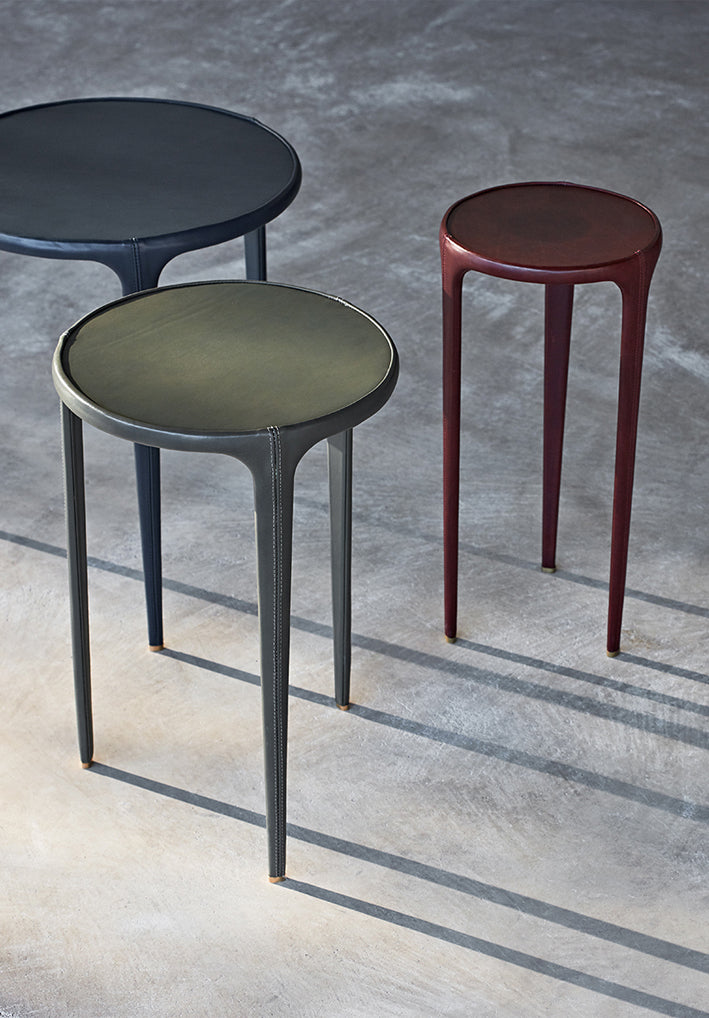 Wisp Leather Side Table (9 Colors)