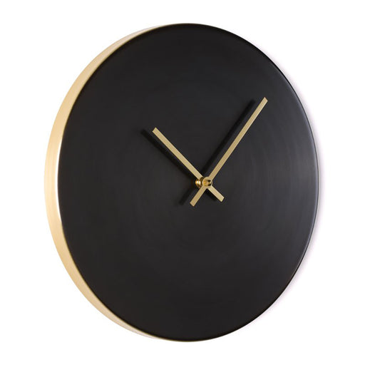 Patina Black Wall Clock