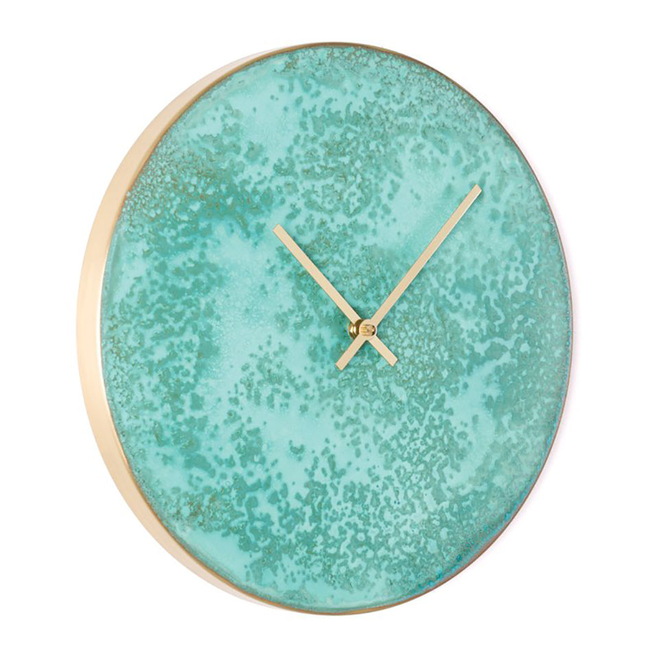 Patina Turquoise Wall Clock