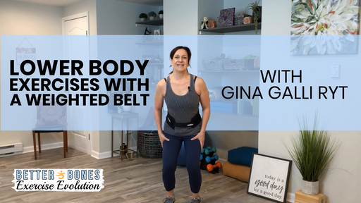 Adjustable Weighted Belt + 3 Exercise Video Downloads