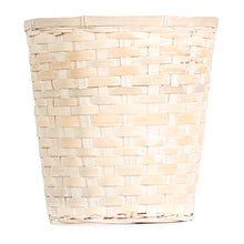 Whitewash Bamboo Basket