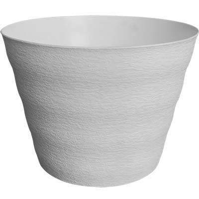 White Textured Decorative Pot