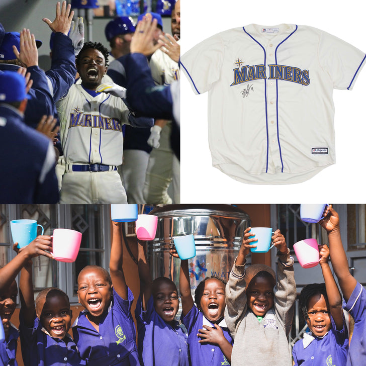 Dee Gordon + 3 former Mariners auction jerseys to support clean water in Kenya