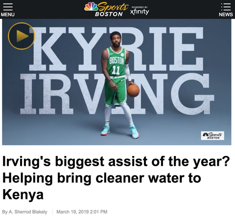 [NBC SPORTS BOSTON] Kyrie Irving's biggest assist of the year? Helping bring cleaner water to Kenya