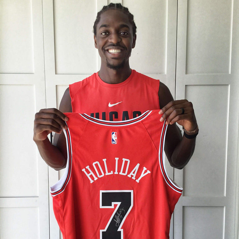 Justin Holiday Autographed Jersey