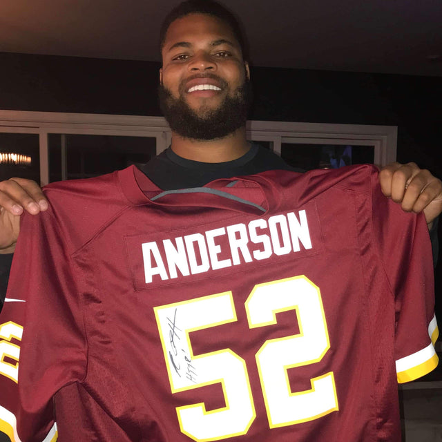 Ryan Anderson Autographed Redskins Jersey