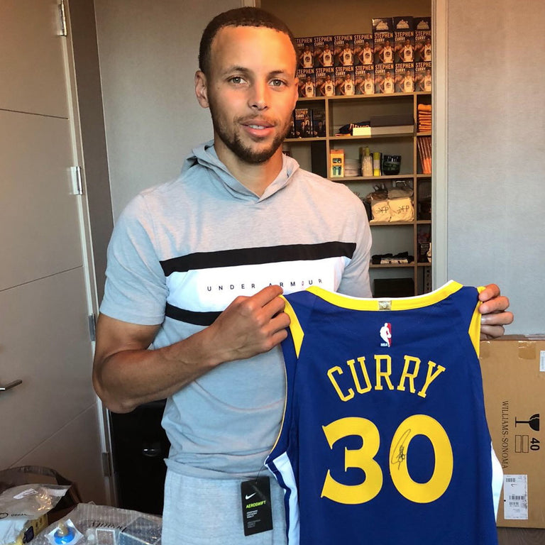 Stephen Curry Autographed Jersey