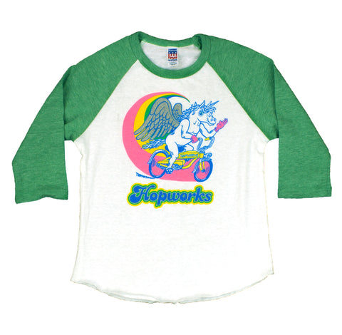 Kids Green Pegacorn Raglan