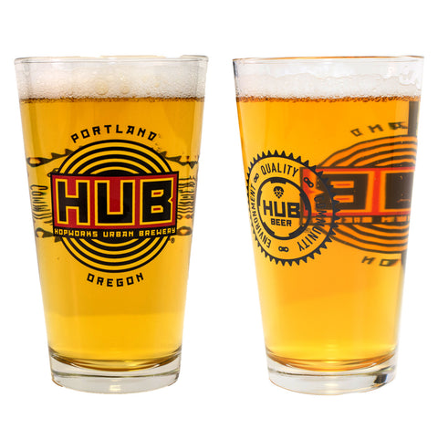 Hopworks Pint Glass