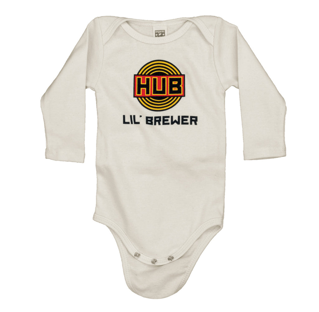 Infant Lil Brewer Long Sleeve Onesie