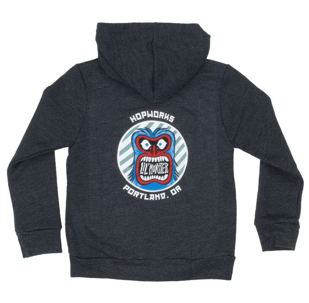 Kids Abominable Little Monster Zip-Hoodie