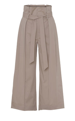 Blanche Fiera Summer Pants Paperbag Hose Creme Beige