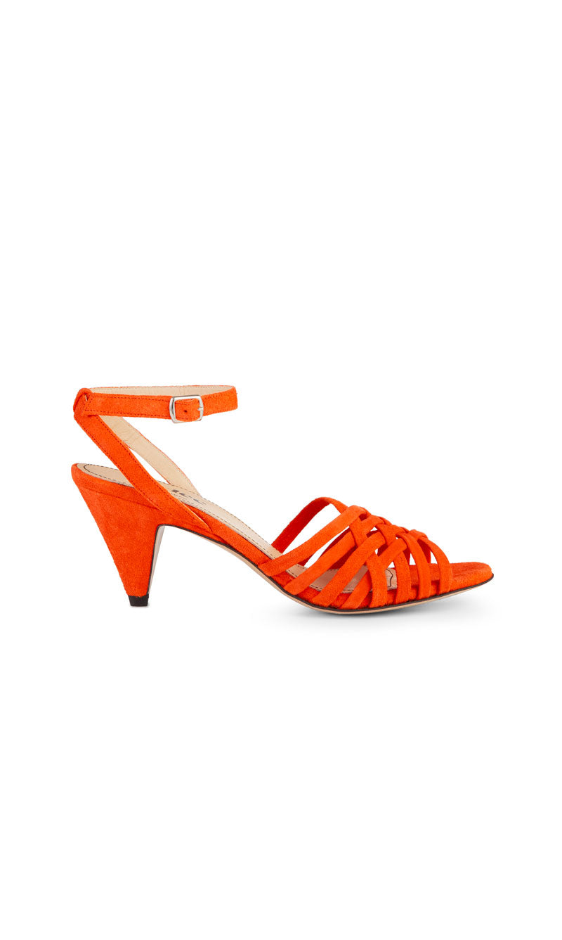 Ivylee Mathilda Sandaletten Velourleder Orange
