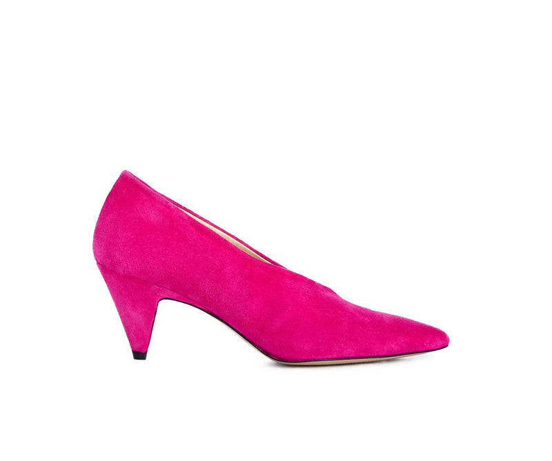 Ivylee Copenhagen Lilly Velourleder Pumps in Pink