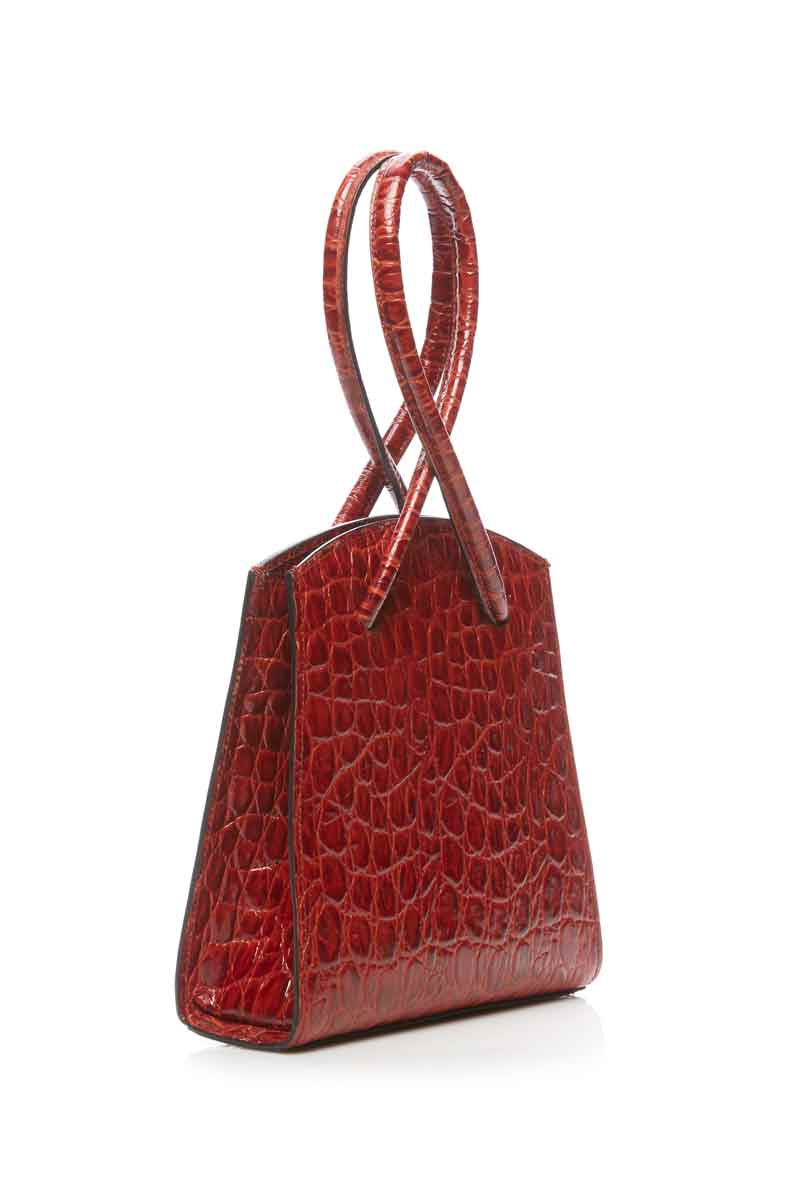 Twisted Wristlet Mini-Tasche