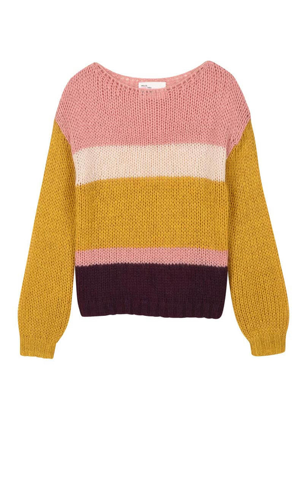 Leon and Harper Locuo Multicolour gestreifter Strickpullover