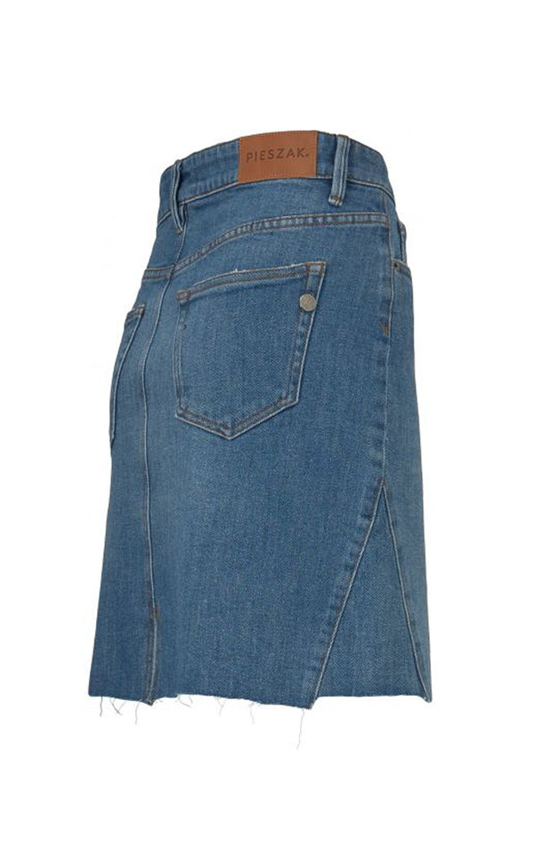 Pieszak Brenda Denim Rock 5 Pocket Style in blauem Denim Seitenansicht
