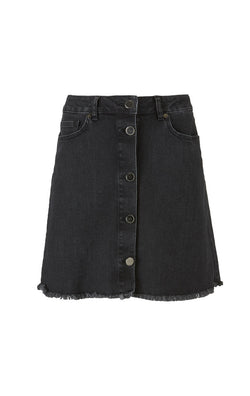 huge discount c03b4 ec256 Diva Swan denim black mini skirt by Pieszak | AVANTGARDRESS