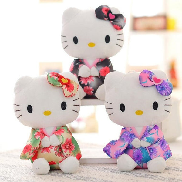 Hello Kitty in a Kimono, Kawaii Plush Dolls, Choose from 3 different styles