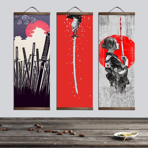 Japanese Samurai Sword Posters Shipped Directly From Japan