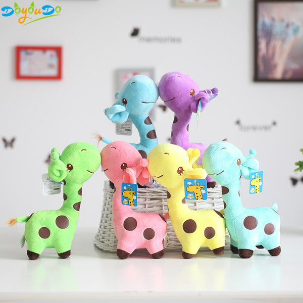 Cute Rainbow Kawaii Plush Giraffe Dolls For Kids