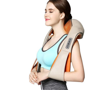 Shiatsu Back and Neck Massager with Heat Deep Kneading Massage for Neck Back, Shoulder Foot and Legs Use at Home Car And Office-Massage Equipment-Fit Sports