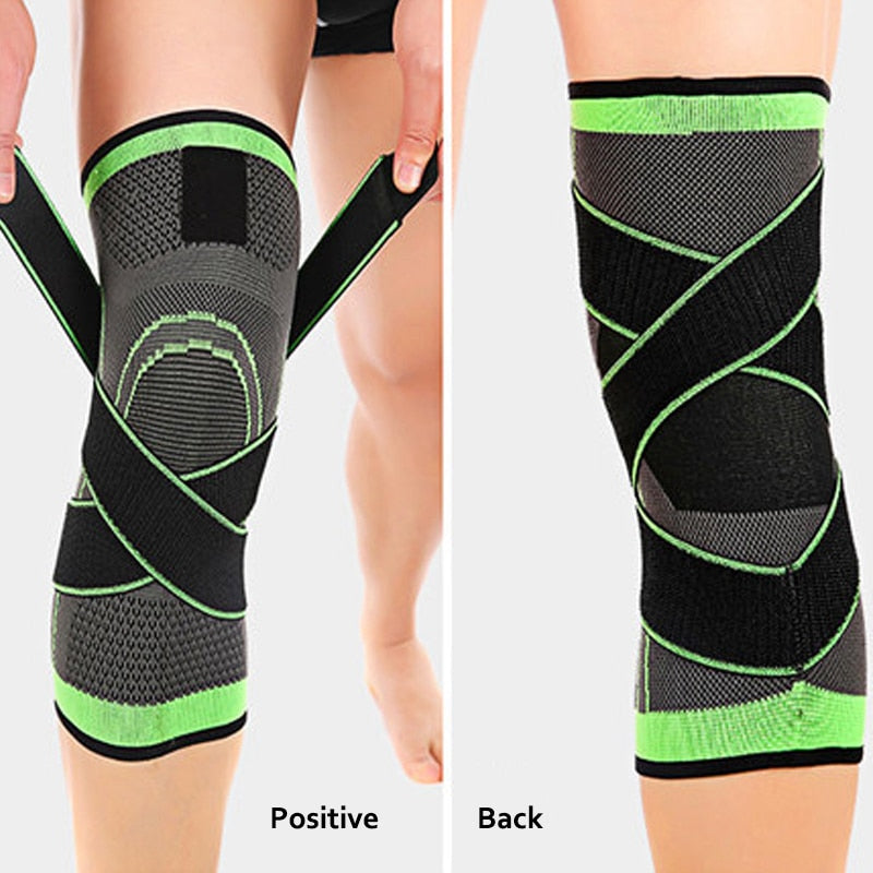 1 Pair Knee Supports Knee Compression Sleeves For Joint Pain Arthritis Running Fitness Elastic Wrap Knee Brace Unisex-Body Support-Fit Sports