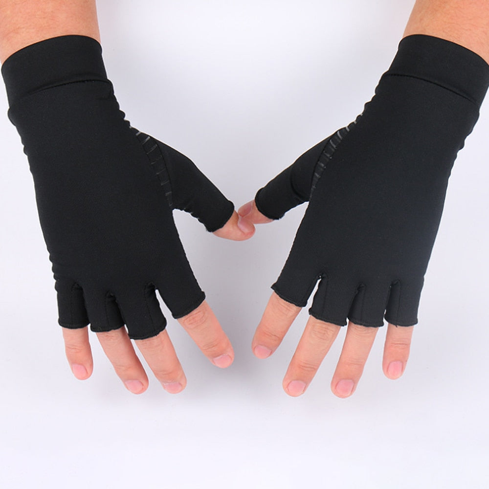 Arthritis Compression Gloves Fingerless Design Breathable & Moisture Wicking Fabric Alleviate Rheumatoid Pains Muscle Tension Unisex-Body Support-Fit Sports