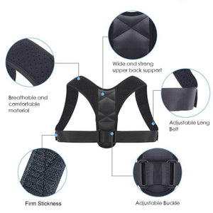Posture Corrector Back Support Shoulder Support Clavicle Support Brace Unisex-Body Support-Fit Sports