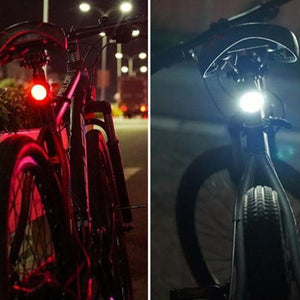 Bike Light Mini LED Bicycle Tail Light And Bike Head Light USB Chargeable Waterproof Safety Warning Cycling Light-Bike Accessories-Fit Sports