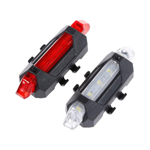 Bright Rear LED Bike light, 6 Color Variations And Safety Warning Light, USB Rechargeable-Bike Accessories-Fit Sports