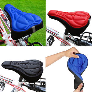 Super Comfortable Ultra Soft Silicone 3D Gel Pad Bike Seat Cover, For All Types of Bikes-Bike Accessories-Fit Sports