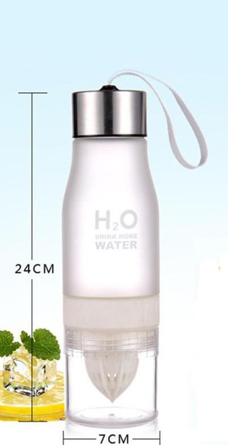 650ml Portable Lemon Juice Infuser Water Bottle Great For Many Outdoor Activities - Fit Sports