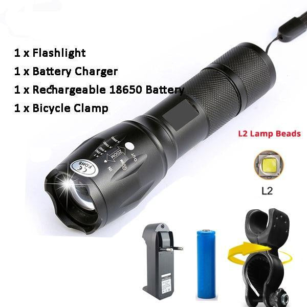 SUPER Bright Multi Use Bike Light, 10000 Lumens, 5 Modes, ZOOM, Waterproof And Easy Recharge-Bike Accessories-Fit Sports