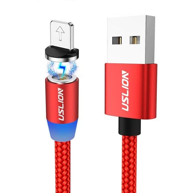 Super Charging Magnetic Nylon Braided USB Charging And Data Transfer Cable For IPhone, Samsung Galaxy And Xiaomi Redmi-Bluetooth Headphones & Accessories-Fit Sports