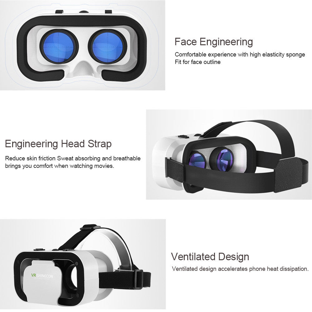1d5504d1899 ... VR SHINECON Virtual Reality Glasses 3D VR Box Glasses Headset for Android  iOS Windows Smart Phones ...