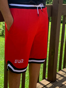 Men Red Basketball Shorts