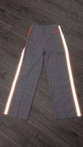 Women's Plaid/ Reflector  Pants (Orange)